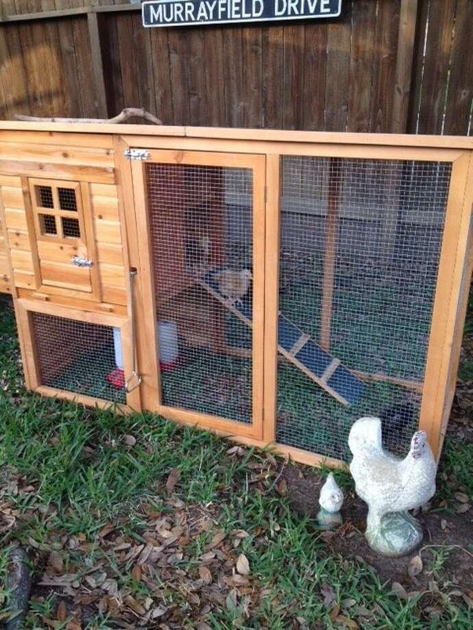 """The """"Martha Stewart"""" chicken coop."""