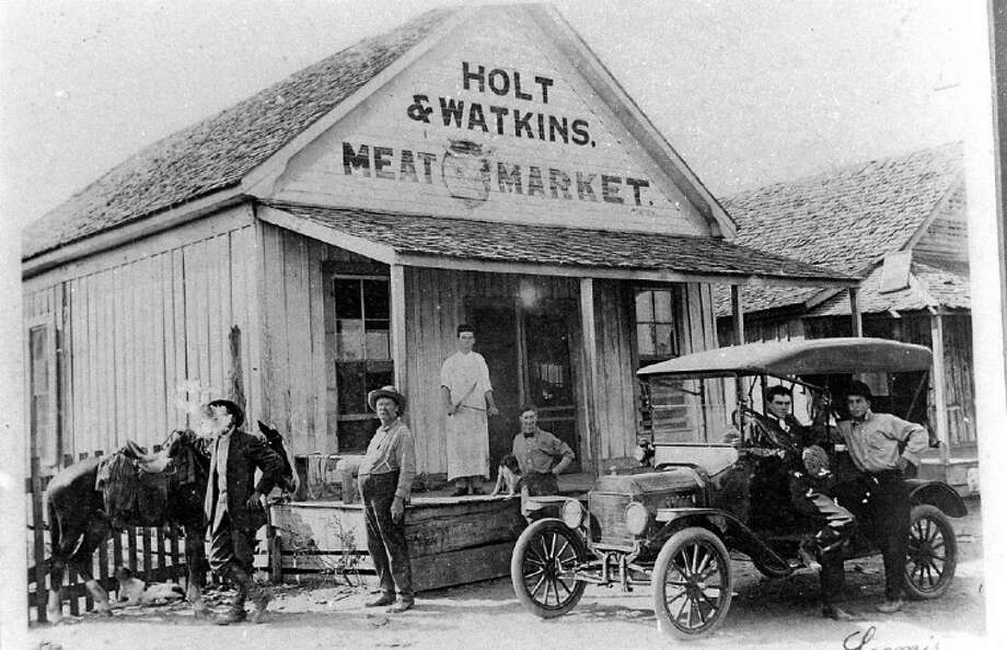 Holt and Watkins meat market was at several locations in Cleveland, but when this photo was taken, it was probably located in the 200 block of East Houston Street in what is now the parking lot of First Bank and Trust.
