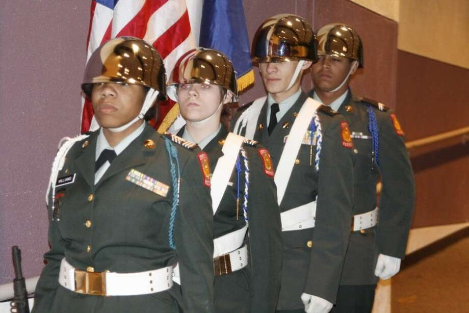 The JROTC presented the colors at the Humble Middle School sixth annual Gettysburg Address essay contest Nov. 15.
