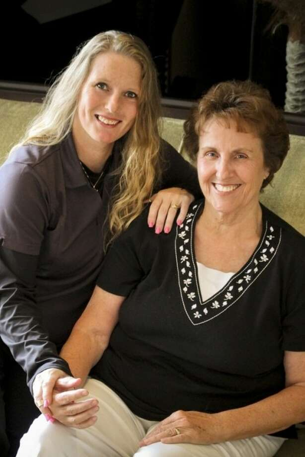 Hanne Draehn is a longtime arthritis sufferer. Shown here with Draehn, right, is Melissa Polk of Massage Envy Copperfield.