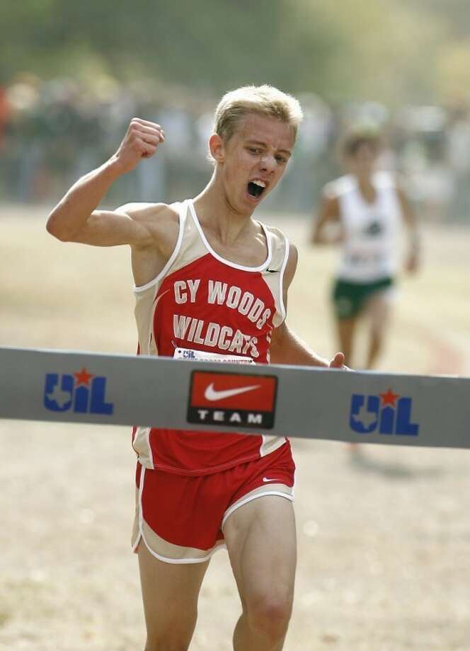 Cy Woods' Craig Nowak has a chance to win two more medals at the state track meetin Austin.