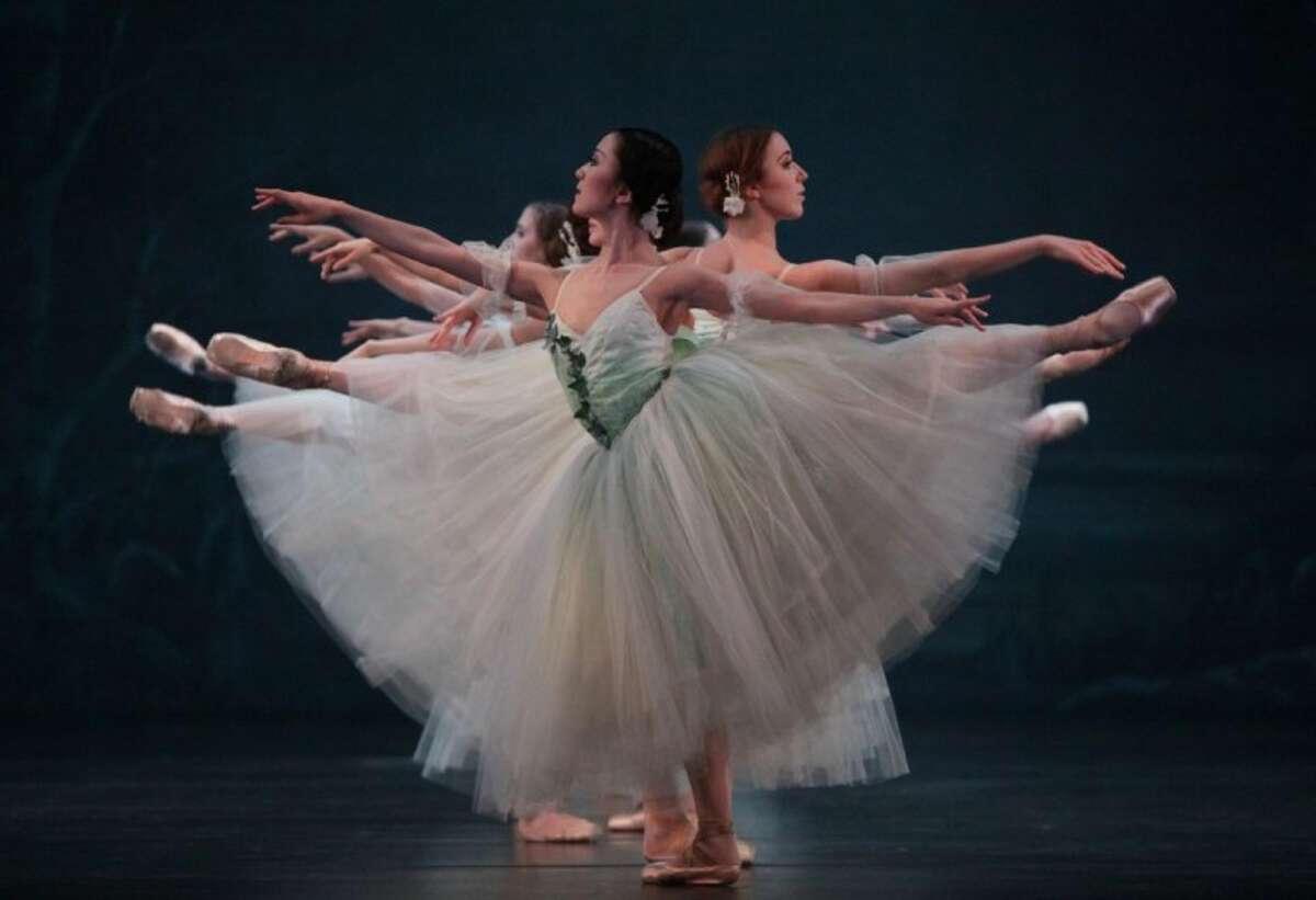 """Nao Kusuzaki and artists of Houston Ballet perform in """"Giselle"""" performed at The Cynthia Woods Mitchell Pavilion on May 4."""