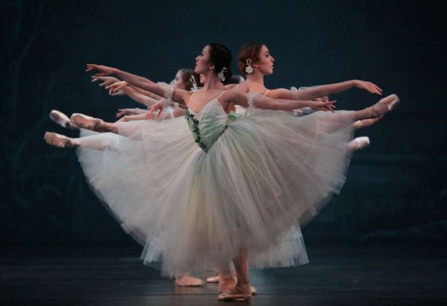 "Nao Kusuzaki and artists of Houston Ballet perform in ""Giselle"" performed at The Cynthia Woods Mitchell Pavilion on May 4."