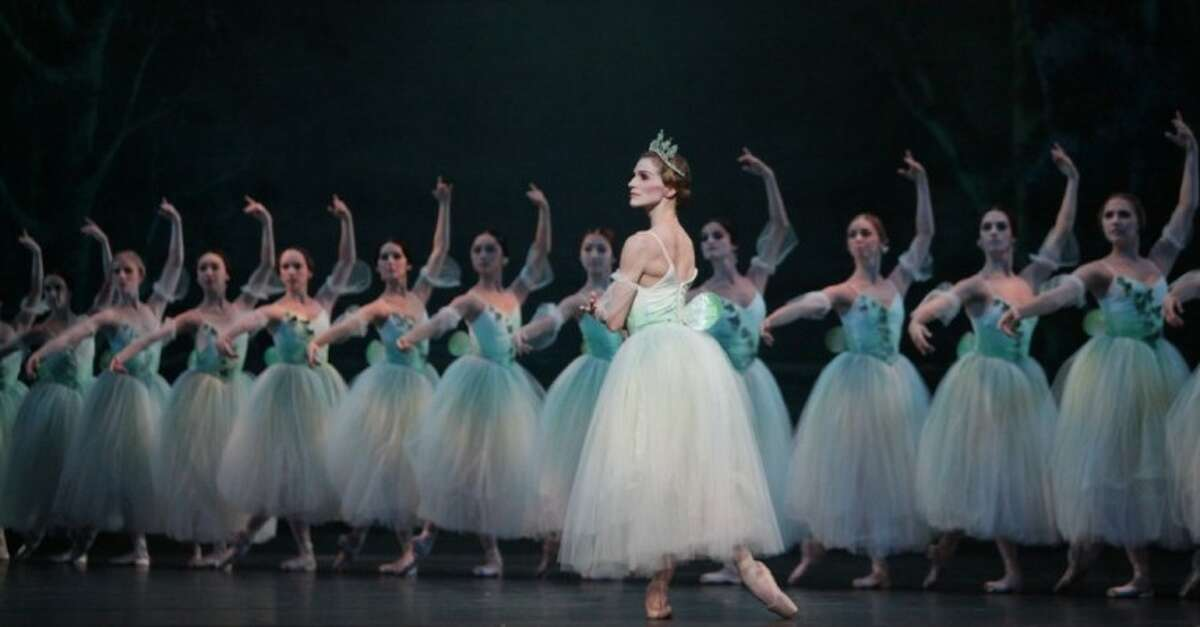"""Kelly Myernick and artists of Houston Ballet perform """"Giselle"""" at The Cynthia Woods Mitchell Pavilion on May 4."""