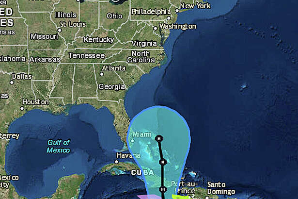 """As of Saturday morning, Oct. 1, 2016, this is the National Hurricane Center's expected track of Hurricane Matthew. The NWS says its too early to say what impact, if any, Matthew will have on the Northeast. On its Boston bureau Facebook page, the NWS service posted Saturday, """"once the system reaches the Bahamas, there is a lot of spread in the models, both in track and timing, which makes an answer to the question (on any impact on the Northeast) virtually impossible at this time. Everyone should pay close attention, though, as we get into next week."""""""