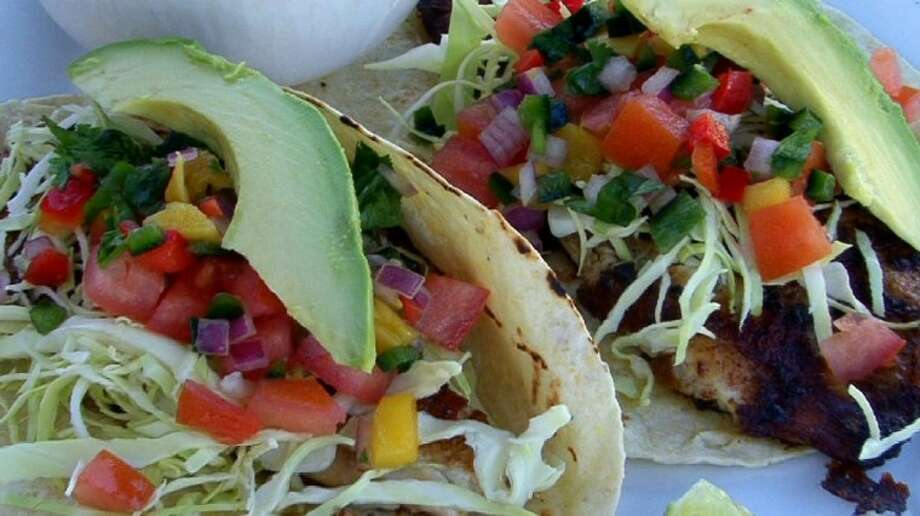 The Creek Restaurant in Boerne has great food, like these tacos with avocado, and beautiful views of the river.