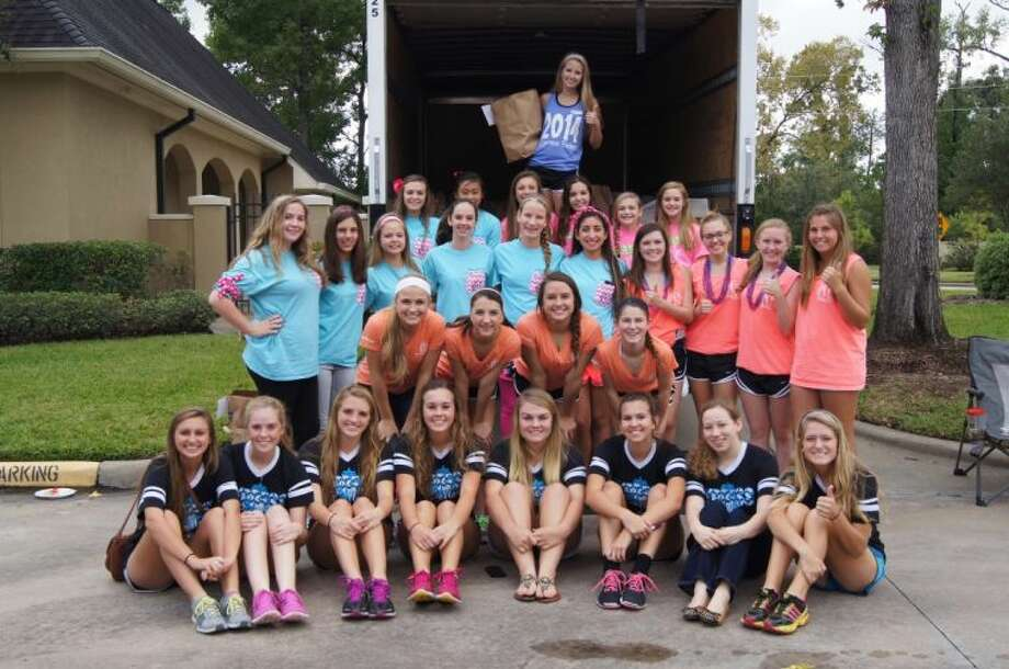 "Pictured are girls from each National Charity League class that participated in the Cypress Belles Chapter ""Scavenger Hunt for Food."" Photo: Submitted Photo"