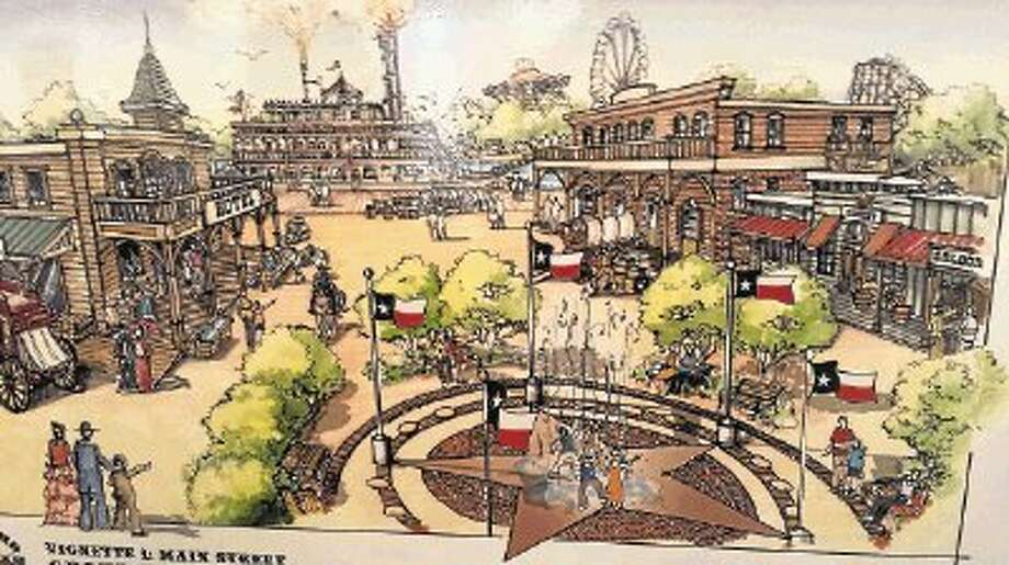 Artist rendering of Main Street at Grand Texas Theme Park / @WireImgId=2650809