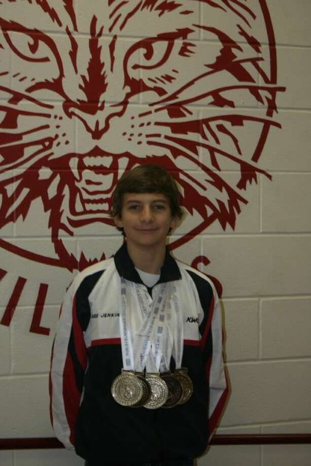 Splendora eighth-grader Chase Jenkins recently returned from the World Championship for Karate in Greece, where he won five medals in various categories within the sport. Jenkins was recognized at the Nov. 18 Splendora ISD board meeting for his accomplishments. Photo: STEPHANIE BUCKNER