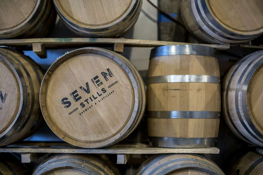 The barrels at Seven Stills on Friday, Sept. 30, 2016 in San Francisco, Calif. Seven Stills is a brewery and whiskey distillery in the Bayview neighborhood. Photo: Santiago Mejia, Special To The Chronicle