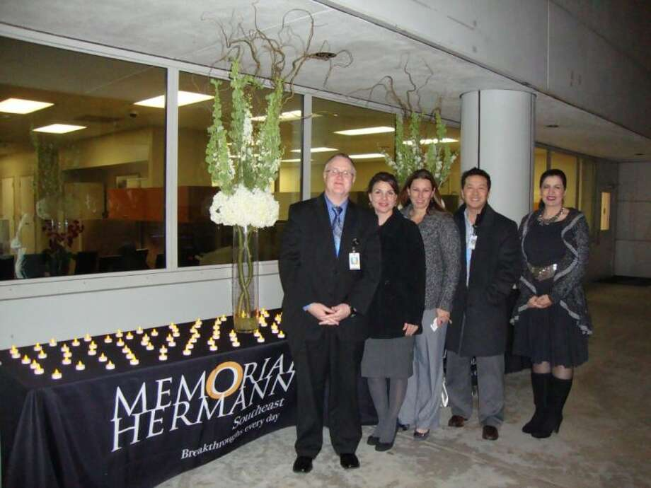 Pictured are Kyle Price, COO; Shannon Kimich, Director of Business Development; Krystie Fenton, Oncology Nurse Navigator; Dr. Jonathan Cheng, Radiation Oncologist and Dr. Farzaneh Banki, Thoracic Surgeon. Photo: SUBMITTED PHOTO