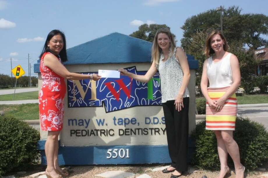 May Tape, DDS (left) with and Rachel Leaman, campaign co-chair for the Fort Bend Children's Discovery Center (center) and Libby King, campaign committee member for the museum. Photo: Submitted Photo