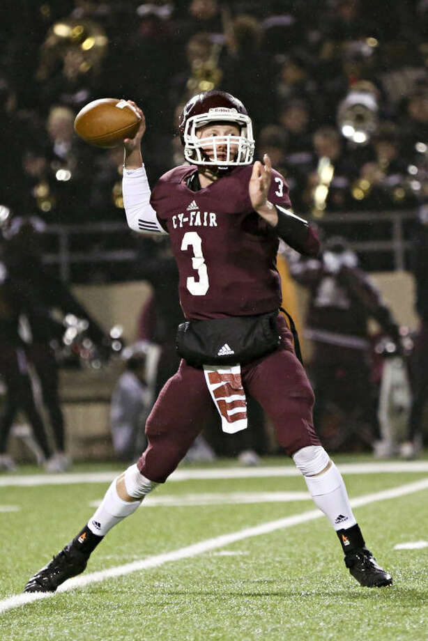 Cy-Fair quarterback Clayton Kopecky is pictured. To view or purchase this photo and others like it, go to HCNPics.com. Photo: Michael Minasi/HCN