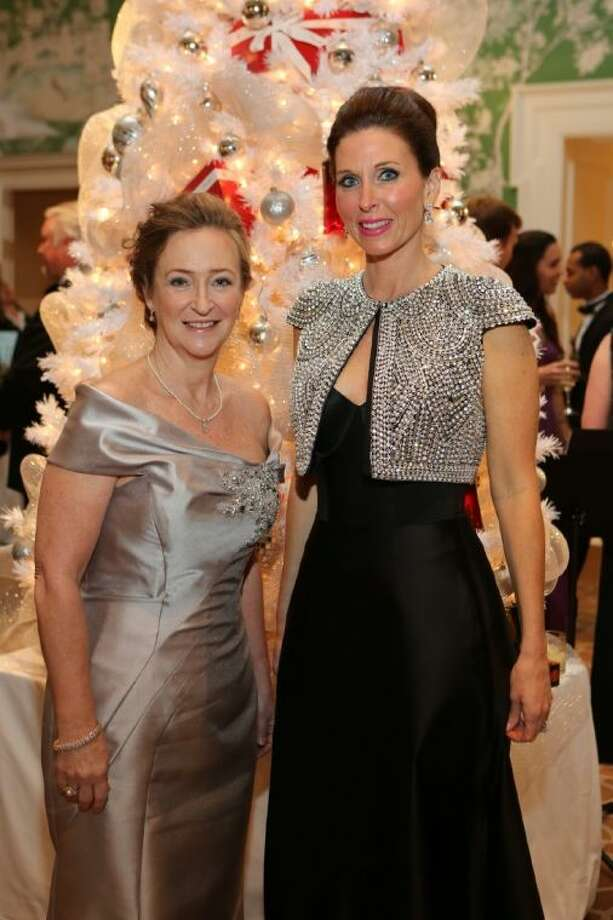 Carol Buckley and Michelle Stewart co-chaired the Trees of Hope Winter White Gala. Photo: Picasa