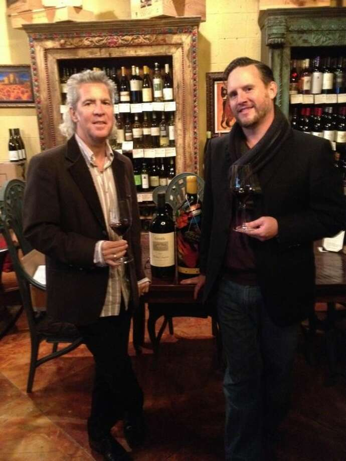 The Vine Wine Room owner Joe Rippey (left) and manager Sean Essex. Photo: Alex Endress