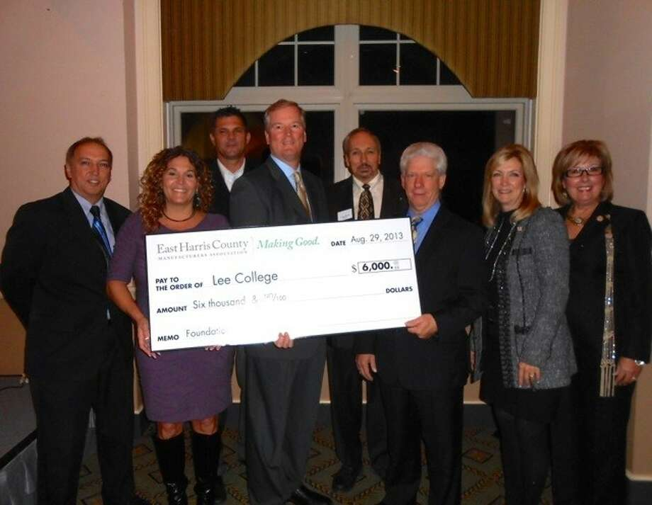 Lee College received a $6,000 scholarship for future petrochemical students. Photo: Submitted Photo