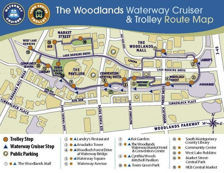 woodlands waterway trolley expanded service goes through jan 15 houston chronicle. Black Bedroom Furniture Sets. Home Design Ideas