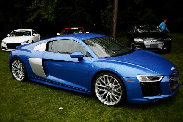 A 2017 Audi R8 equipped with a V10 engine is on display during the Northwood University International Auto Show on Saturday on the Northwood campus. The 2016 show is themed 'Fueled.'