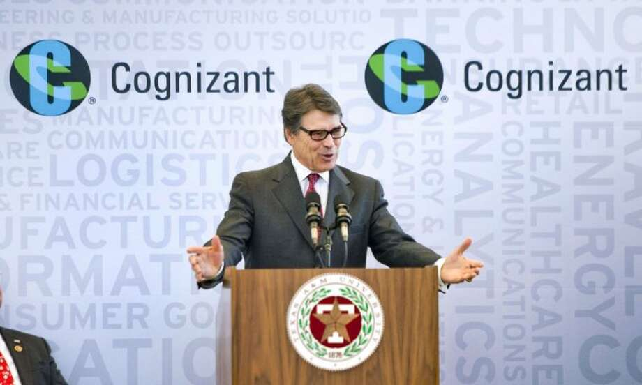 Texas governor Rick Perry announced the forthcoming headquarters relocation of Cognizant Technology Solutions, a Fortune 500 company employing over 150,000 workers world-wide, during a press conference at The National Center for Therapeutics Manufacturing on the A&M campus Monday morning.