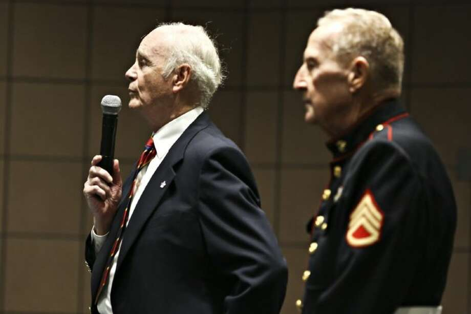 Retired dean of lone star college hosts korean war for Michael j arlen living room war