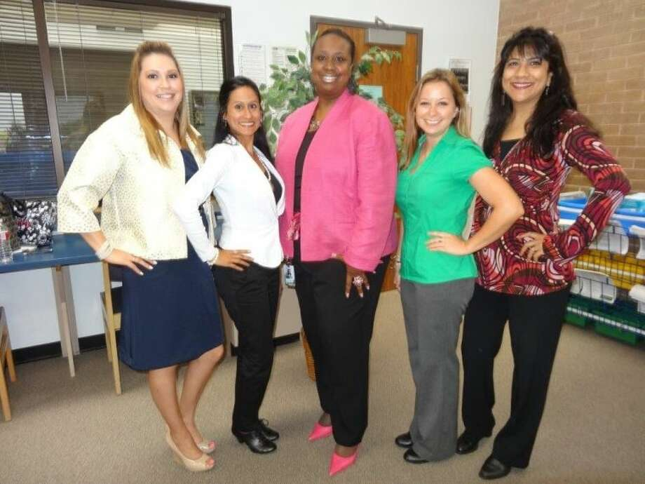 Pictured (from left to right) are Title I Social Workers Kristie Valdez, Regina Garza, LaSonya McArthur, Sara Stansbury and Priti Avantsa. Photo: Courtesy FBISD