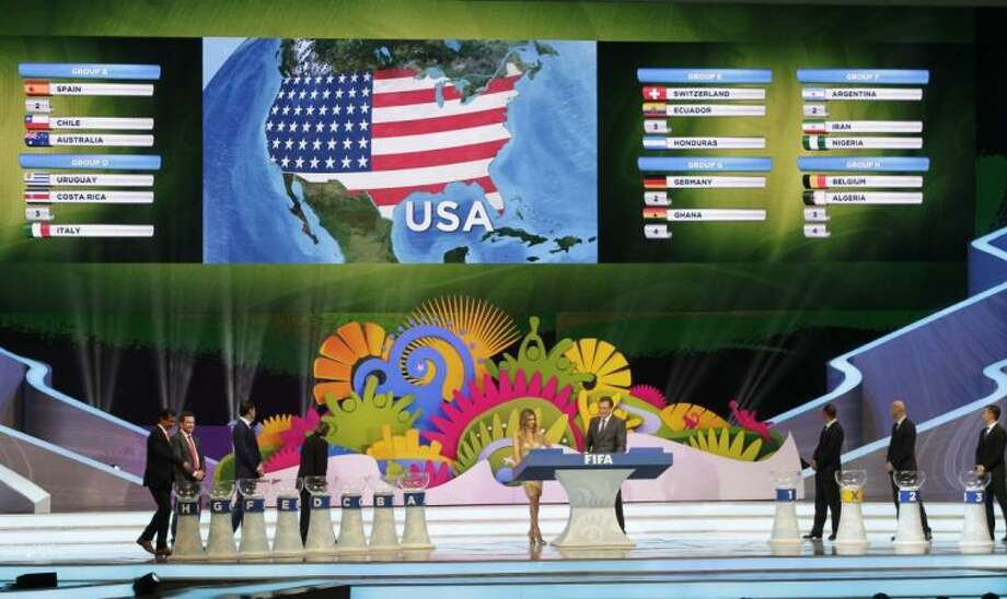 The lot of the United States is drawn during the draw ceremony for the 2014 World Cup on Friday in Costa do Sauipe near Salvador, Brazil.