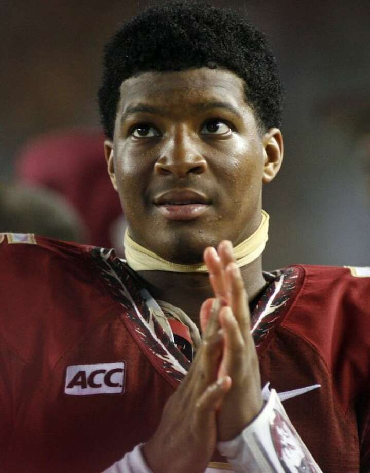 Florida State quarterback Jameis Winston watches from the sidelines against Bethune-Cookman on Sept. 21 in Tallahassee, Fla.