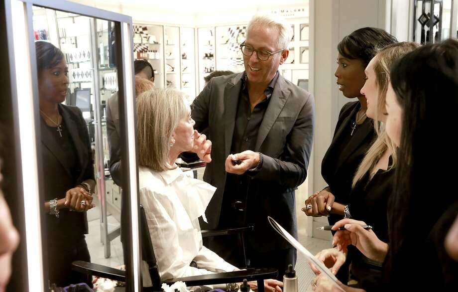 Make up artist Tim Quinn works with Elizabeth Light on Sat. Oct. 1, 2016, in San Francisco, California. Quinn, an internationally renowned makeup artist for Giorgio Armani, comes to do a day of beauty consultations with customers at Saks Fifth Ave. in Union Square. Photo: Michael Macor, The Chronicle