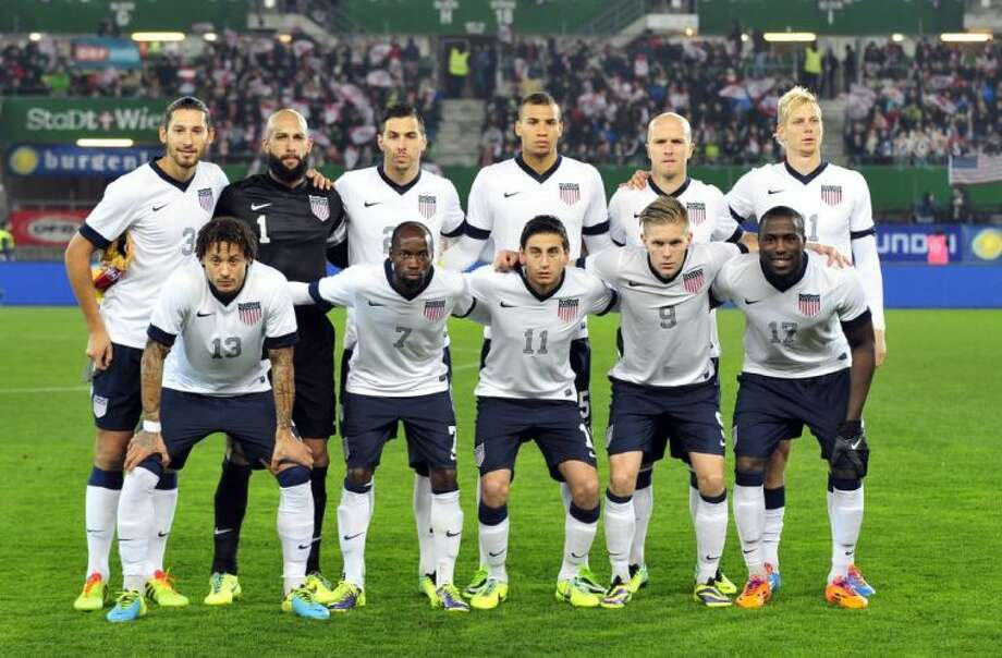 The United States national team poses prior to the start of a friendly against Austria on Nov. 19 in Vienna. Background from left: Omar Gonzalez, Tim Howard, Geoff Cameron, John Brooks, Michael Bradley and Brek Shea. Foreground from left: Jermaine Jones, DaMarcus Beasley, Alejandro Bedoya, Aron Johannsson and Jozy Altidore.