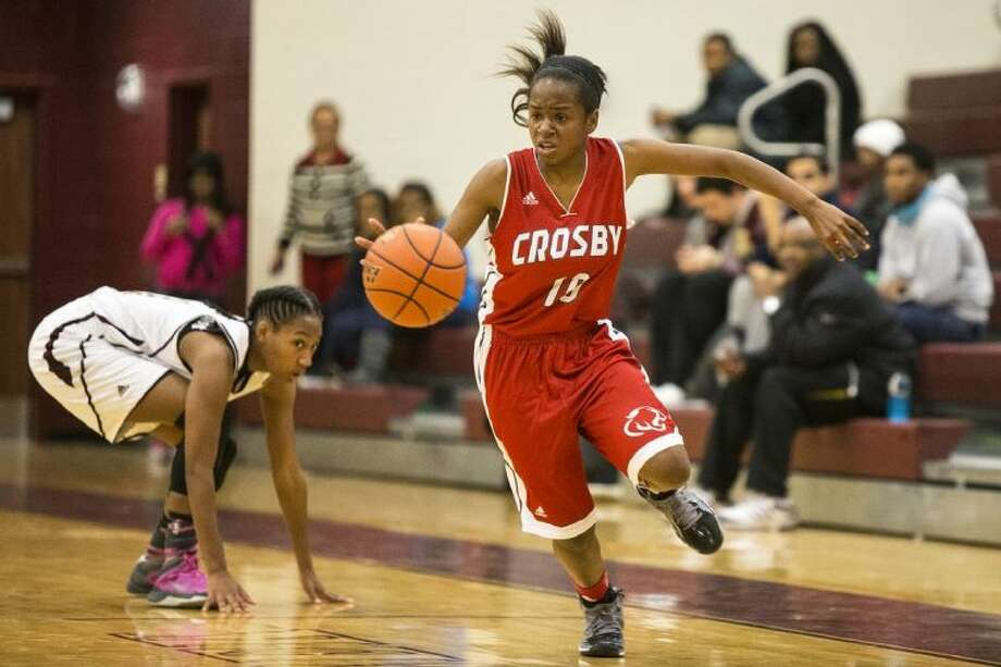 Crosby's Eboni Jones and the Lady Cougars fell to Summer Creek on Friday. Photo: ANDREW BUCKLEY