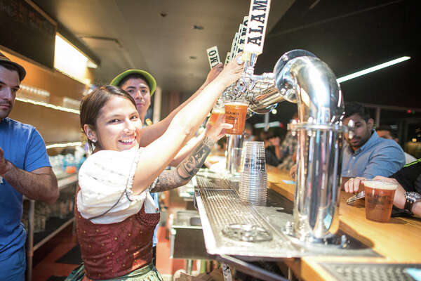 Beer lovers hit Alamo Beer Company Friday night, Sept. 1, 2016, for the brewery's 2nd Annual Oktoberfest.