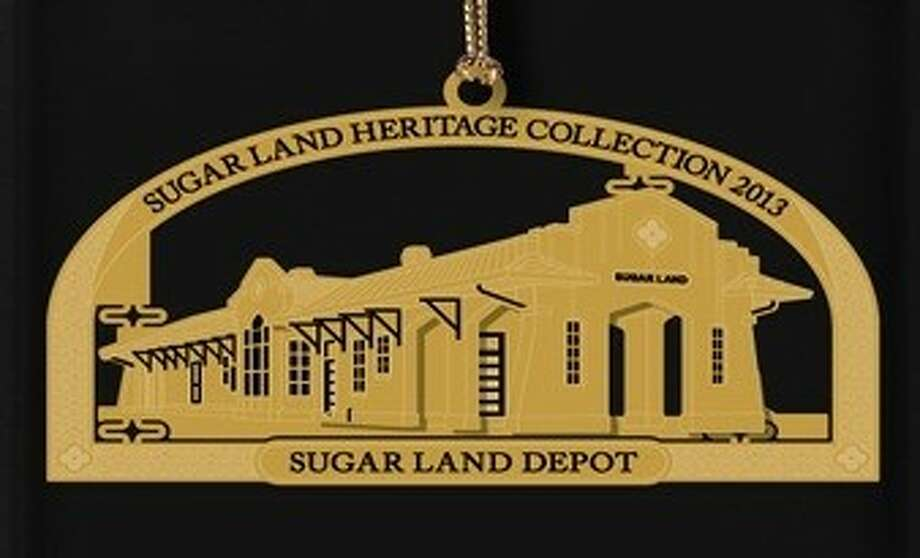 The Sugar Land Heritage Foundation's limited edition, collectible Christmas ornament for 2013, featuring the Sugar Land Depot. Photo: Submitted