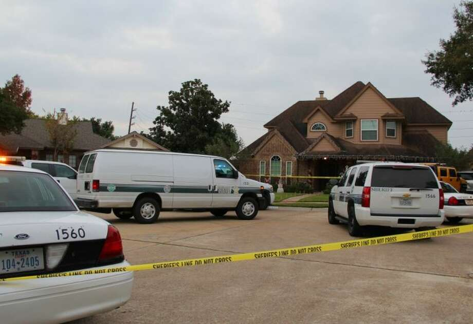 Brazoria County Sheriff Separtmnet deputies were called to a home in Silverlake after shots were heard around 3 p.m. Detectives say a woman was shot multiple times by her ex-husband and is in the hospital in critical condition. The man was shot and died at the scene. Investigators are releasing few details at this point. Photo: KRISTI NIX