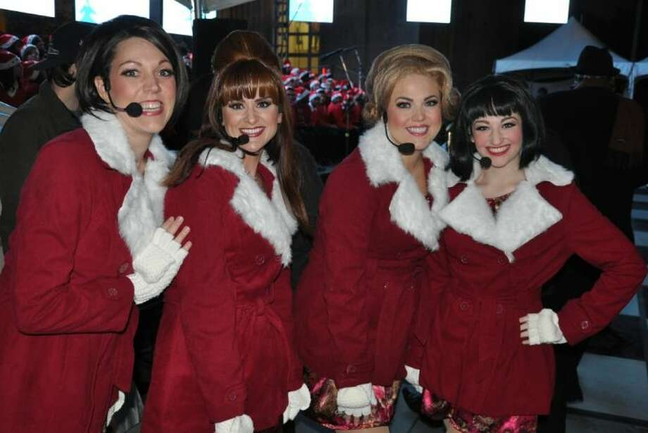 "The HFAC cast of Jessica Rohe as Betty Jean, Mandy Kolbaba as Missy, Nicole Norton-Slatnick as Suzy and Rachel Rubin as Cindy Lou sang ""Mr. Santa"" and ""Winter Wonderland"" from Winter Wonderettes - the 60's Holiday Sequel to the smash Off-Broadway hit, The Marvelous Wonderettes, written and created by Roger Bean. Photo: Submitted"