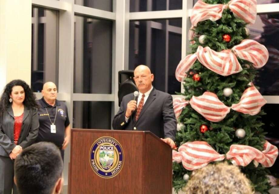 The Pearland Police Officer's Association hosted a tree lighting ceremony in honor of crime victims and their families on Tuesday (Dec. 3). Photo: KRISTI NIX