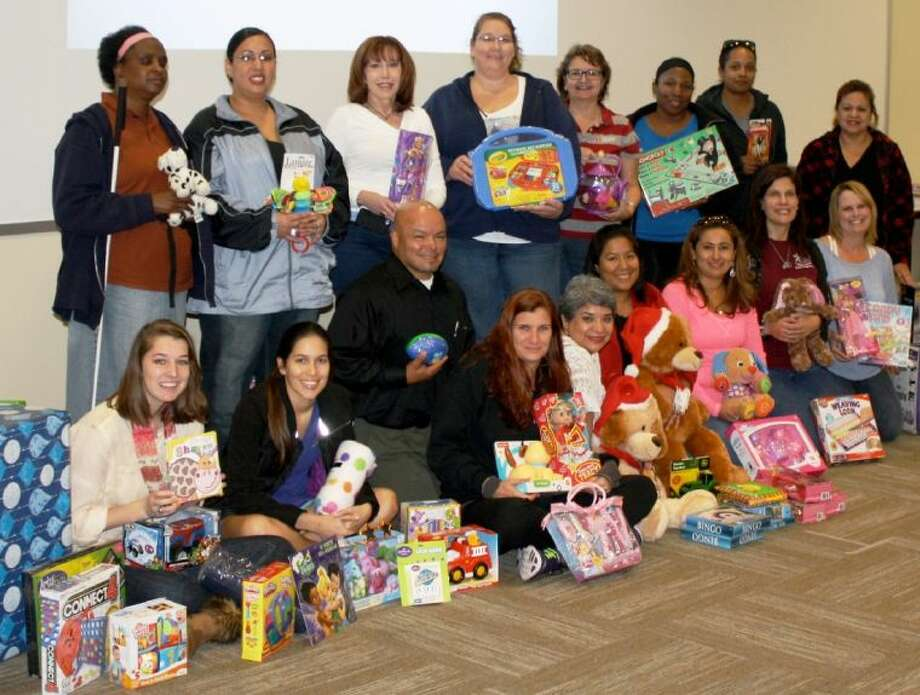 Students from LSC-Montgomery's Human Services Student Organization hope to spread some Christmas cheer to the children with the more than 300 toys they collected for Children's Safe Harbor, a non-profit agency in Conroe that serves children who are victims of abuse and neglect.
