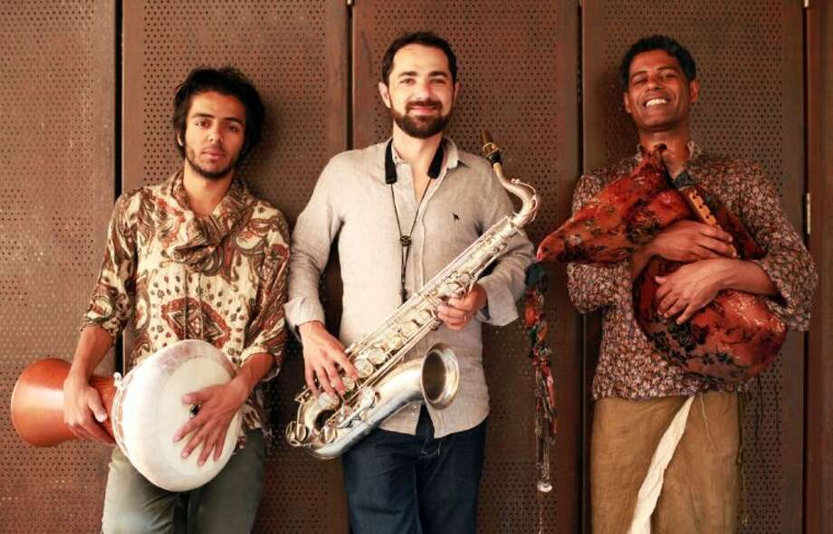 Musicians Saeid Shanbehzadeh, Basel Rajoub, and Naghib Shanbehzadeh perform Saturday through the Aga Khan Music Initiative.