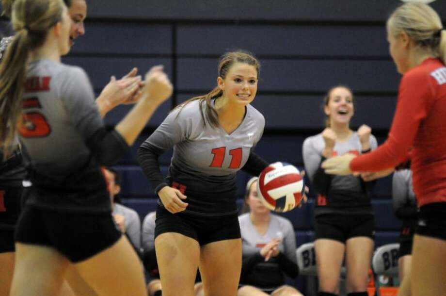 Huffman's Kelsie McEachern earned All-Area Co-Setter of the Year. Photo: Keith MacPherson