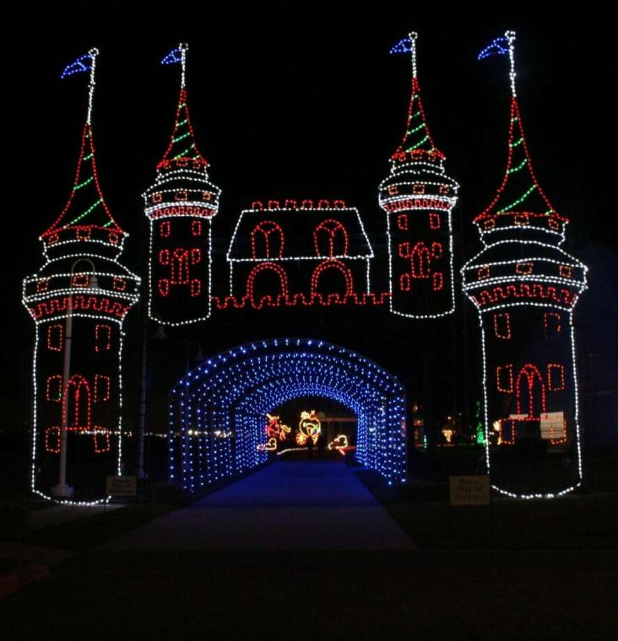 Light displays like this castle draw crowds to Moody Garden's Festival of Lights. Photo: Submitted Photo