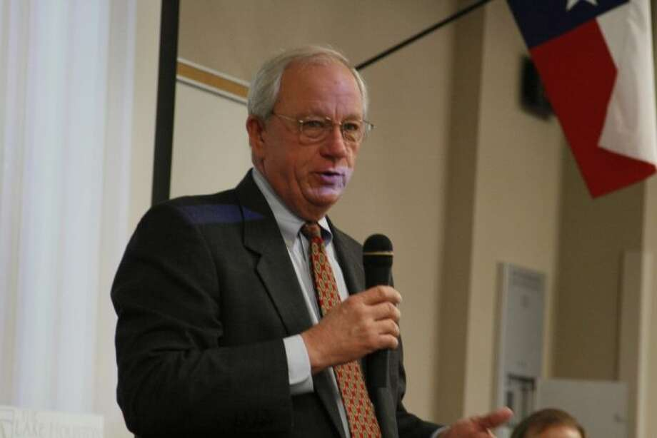 Harris County Tax Assessor Collector Mike Sullivan was one of the speakers at the Summer Creek BizCom Dec. 12, 2013.