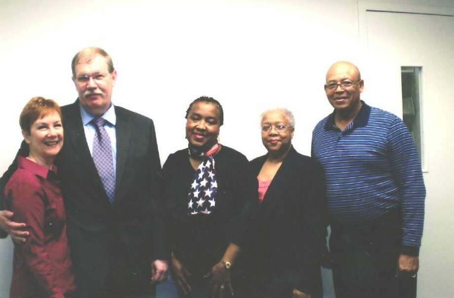 Elaine Green, Michael Green, Mable Scott Austin, Elise Leaks Harmon, and Melvin Petitt. Photo: Submitted Photo