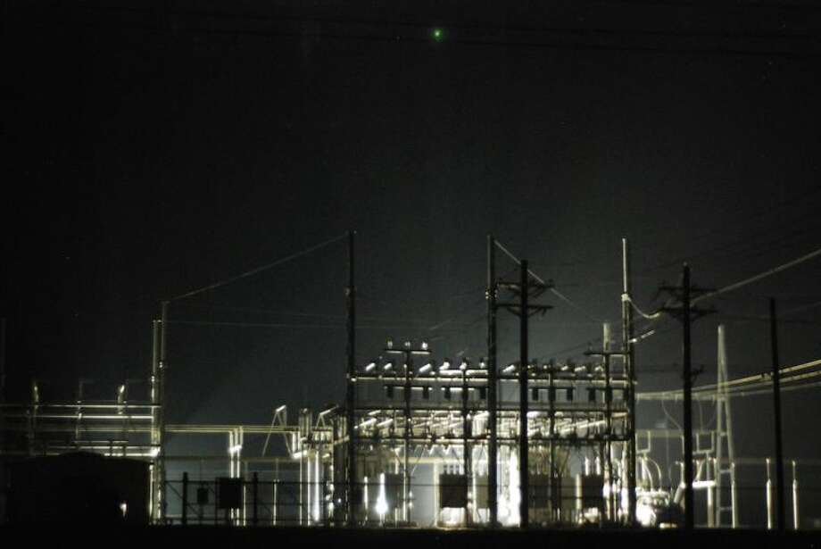 The new electrical substation in Liberty was brought online overnight Saturday, Dec. 14. Photo: CASEY STINNETT