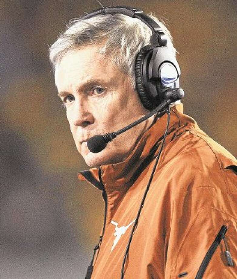 Mack Brown, who announced his resignation last week, will coach the Longhorns for the final time on Dec. 30 as they take on No. 10 Oregon in the Alamo Bowl in San Antonio. Photo: Chris Jackson / @WireImgId=2654474