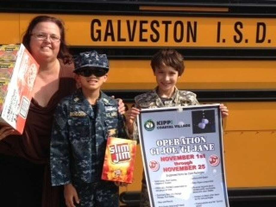The Galveston ISD transportation department participated in Del Papa Distributing Company's annual GI Joe/GI drive. Items collected have been sent in care packages to U.S. soldiers serving overseas. Photo: SUBMITTED PHOTO
