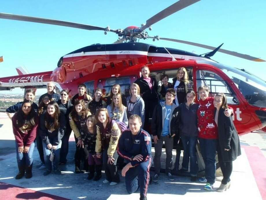 The Magnolia West SkillsUSA Health Science, took a field trip to the Gulf Coast Blood Bank and Life Flight. Photo: Submitted