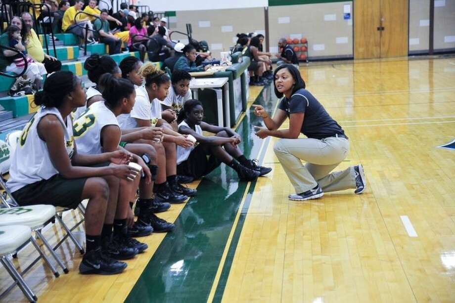 San Jacinto College's Women's Basketball Head Coach Brenita Williams-Jackson hopes for a stronger finish to the 2013-2014 season. Photo credit: Rob Vanya, San Jacinto College marketing, public relations, and government affairs department.