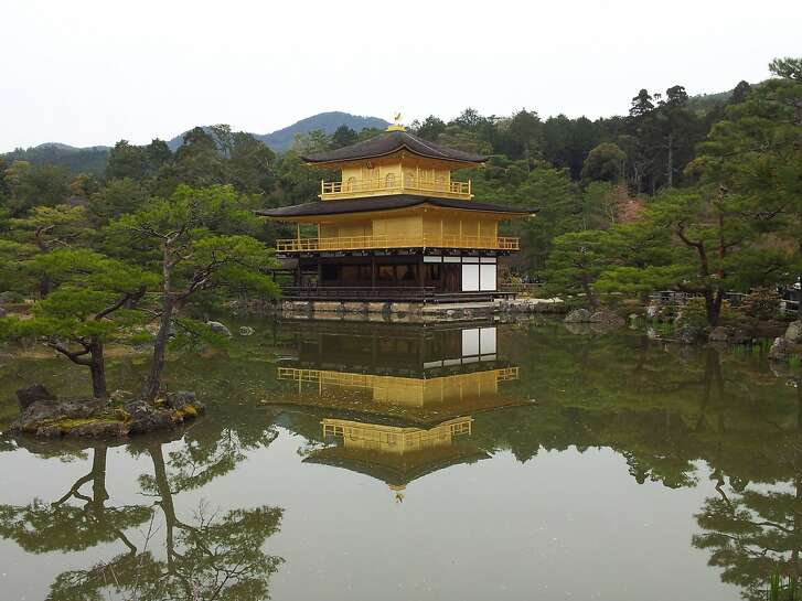 """""""The 14th century Kinkakuji Temple is """"a stunning example of the gorgeous Japanese aesthetic,"""" says Don George."""