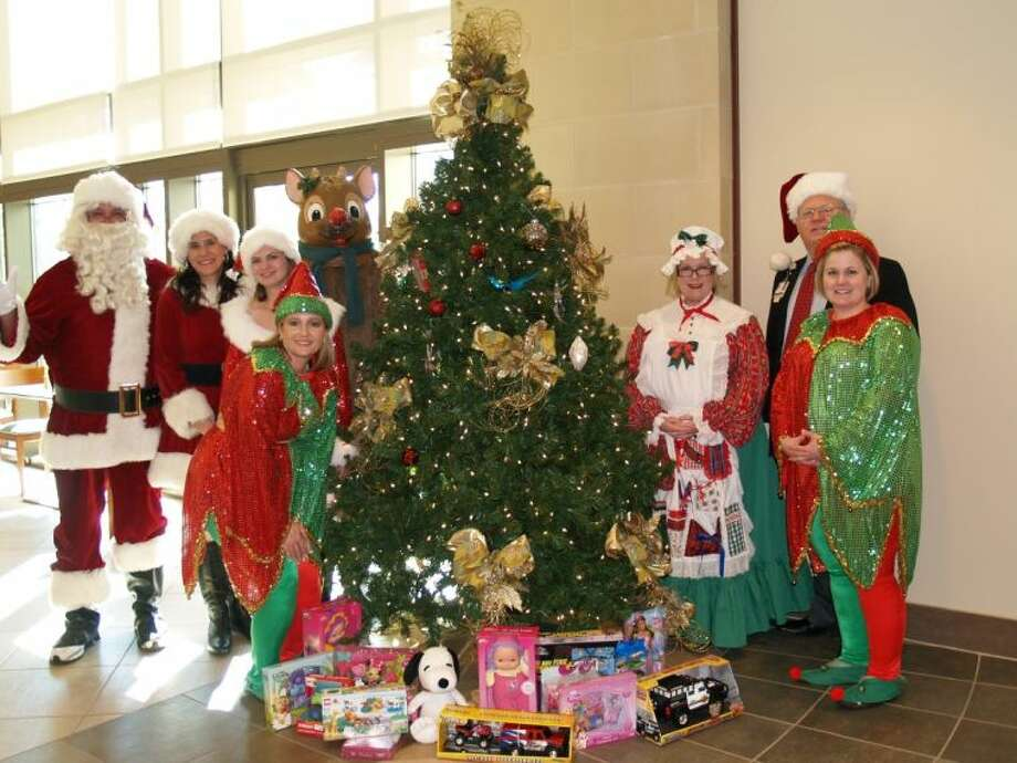 St. Luke's Hospital at The Vintage provided some holiday cheer by collecting hundreds of toys for Toys for Tots.