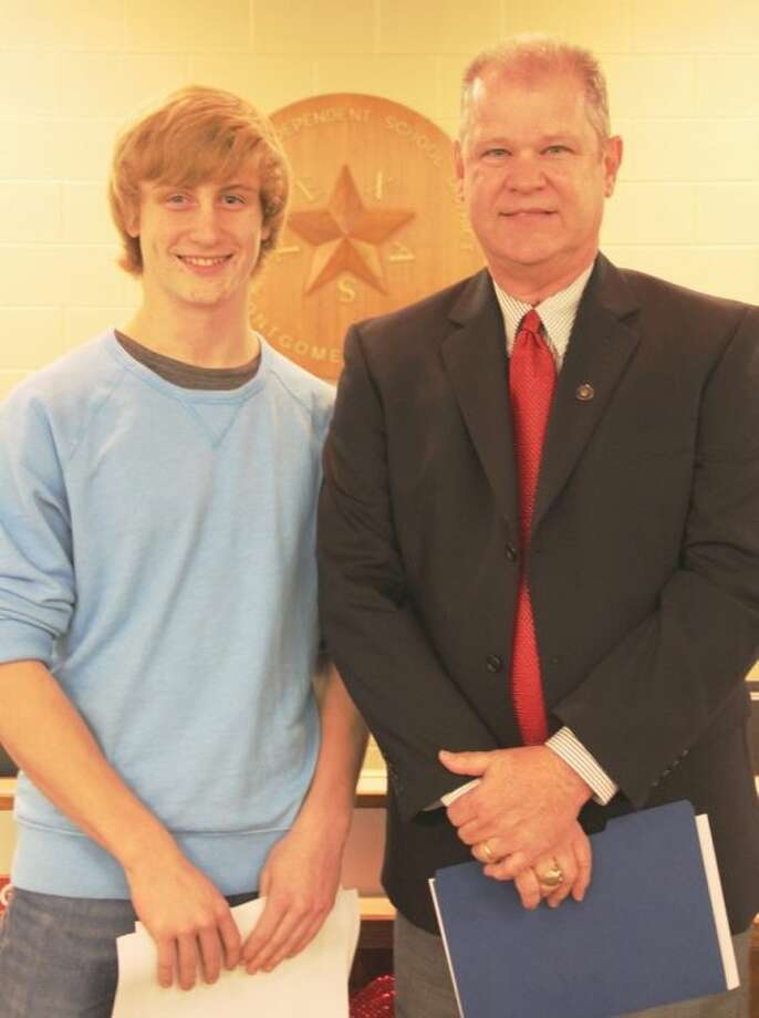 Caleb Wall, an eighth grade student at Bear Branch Junior High, was honored as an MISD Student of the Month for December. Photo: MISD