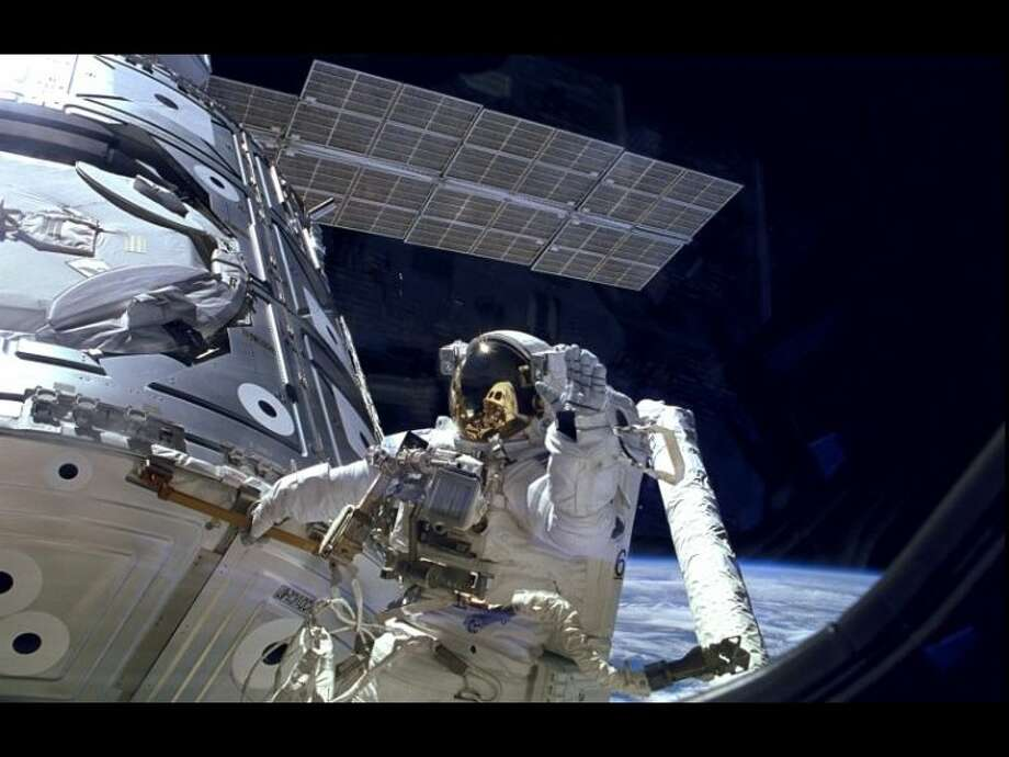 During a Christmas Eve space walk, astronauts replaced an ammonia pump module in coolant loop A, one of two cooling systems used to diffuse heat produced by the station's electrical systems. Photo: Courtesy NASA
